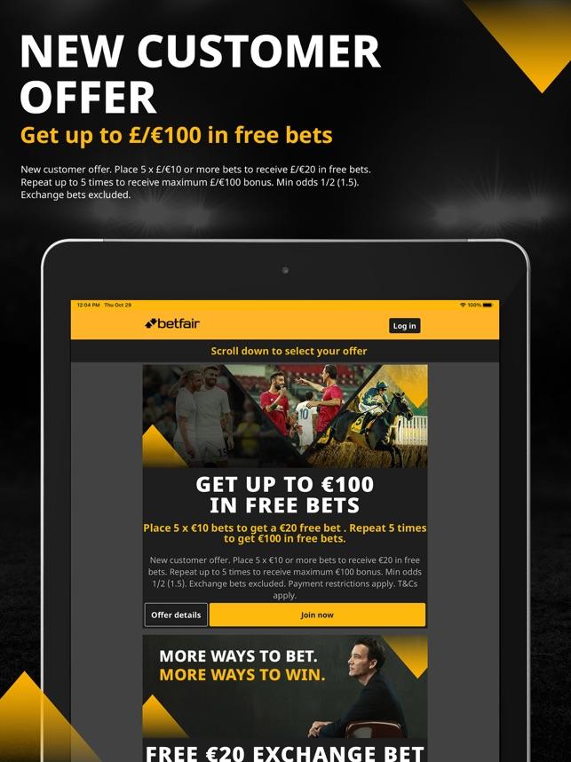 each way betting on betfair bingo