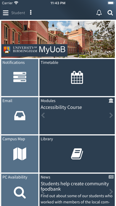 MyUoB screenshot 1