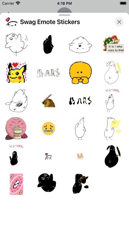 Swag Emote Stickers