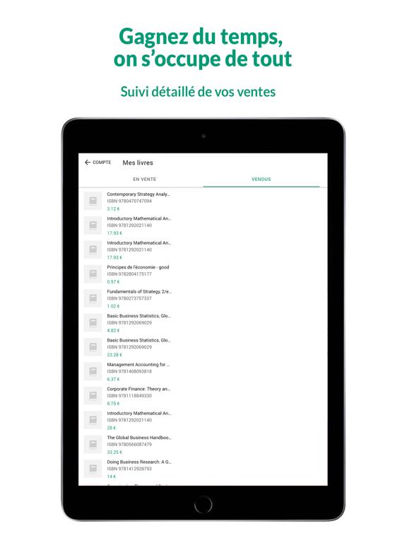 La Bourse aux Livres - Vendre iPad captures décran