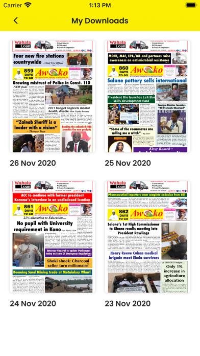 Awoko E-News paper screenshot 3
