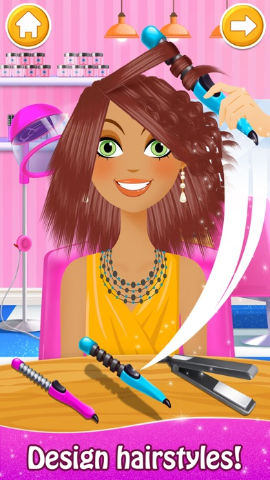 Super Hair Salon: Makeup Games Screenshot on iOS