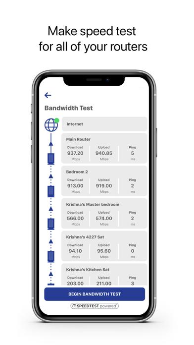 Screenshot of FollowMyNetwork App