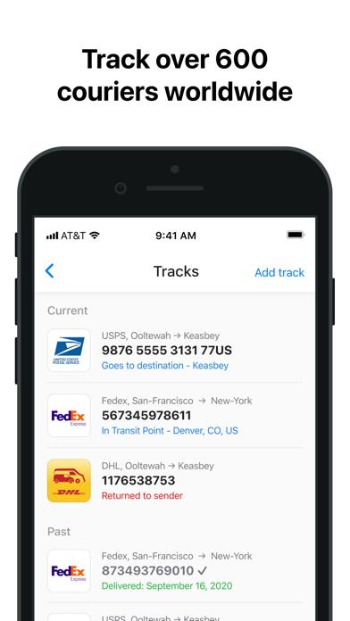 Parcelee - Package Tracker App Screenshot