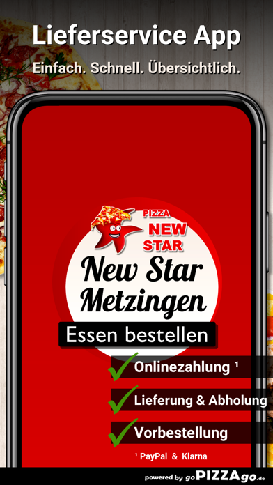 Pizza New Star Metzingen screenshot 1