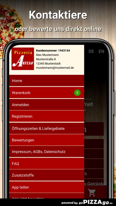 Pizzeria Arvino Kitzingen screenshot 3