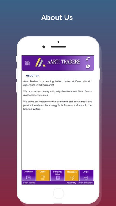 Screenshot of Aarti Traders App