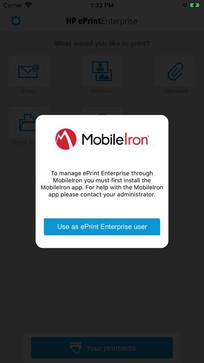HPePrint Enterprise MobileIron screenshot-3