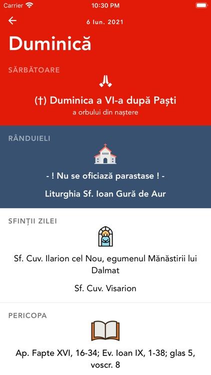 Calendar Ortodox †