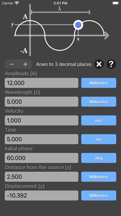 Harmonic Wave Equation Calc screenshot-4