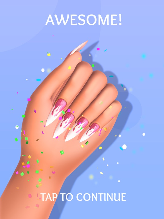 iPad Image of Acrylic Nails!