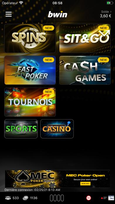 bwin: Jouer au Poker en Ligne iPhone