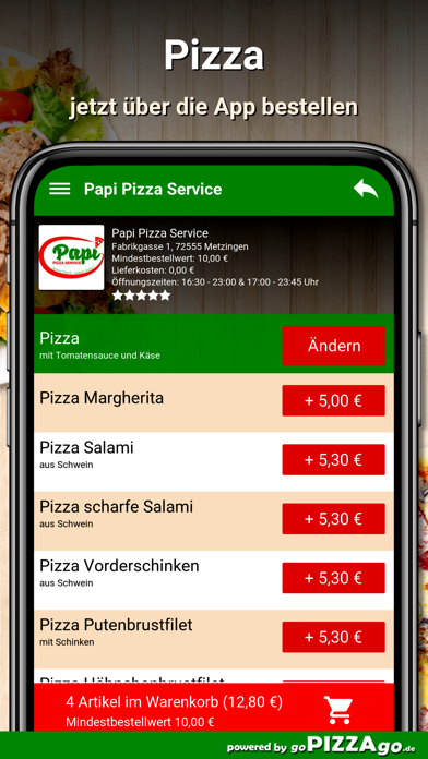 Papi Pizza Service Metzingen screenshot 5