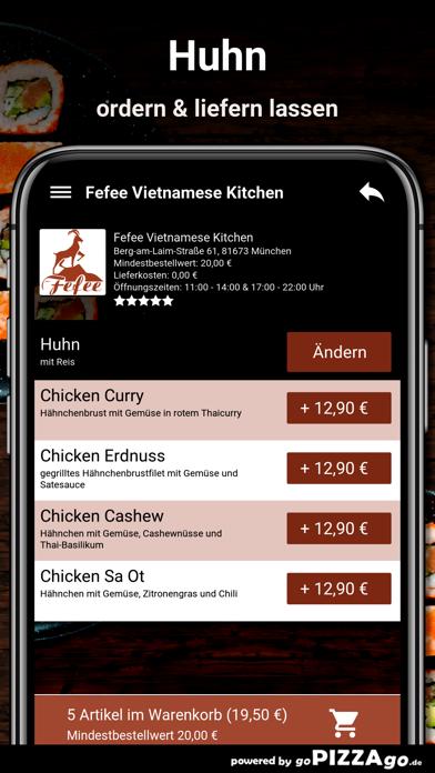 Fefee München Lieferservice screenshot 6