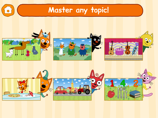 Ipad Screen Shot Kid-E-Cats: Little Kids Games! 1