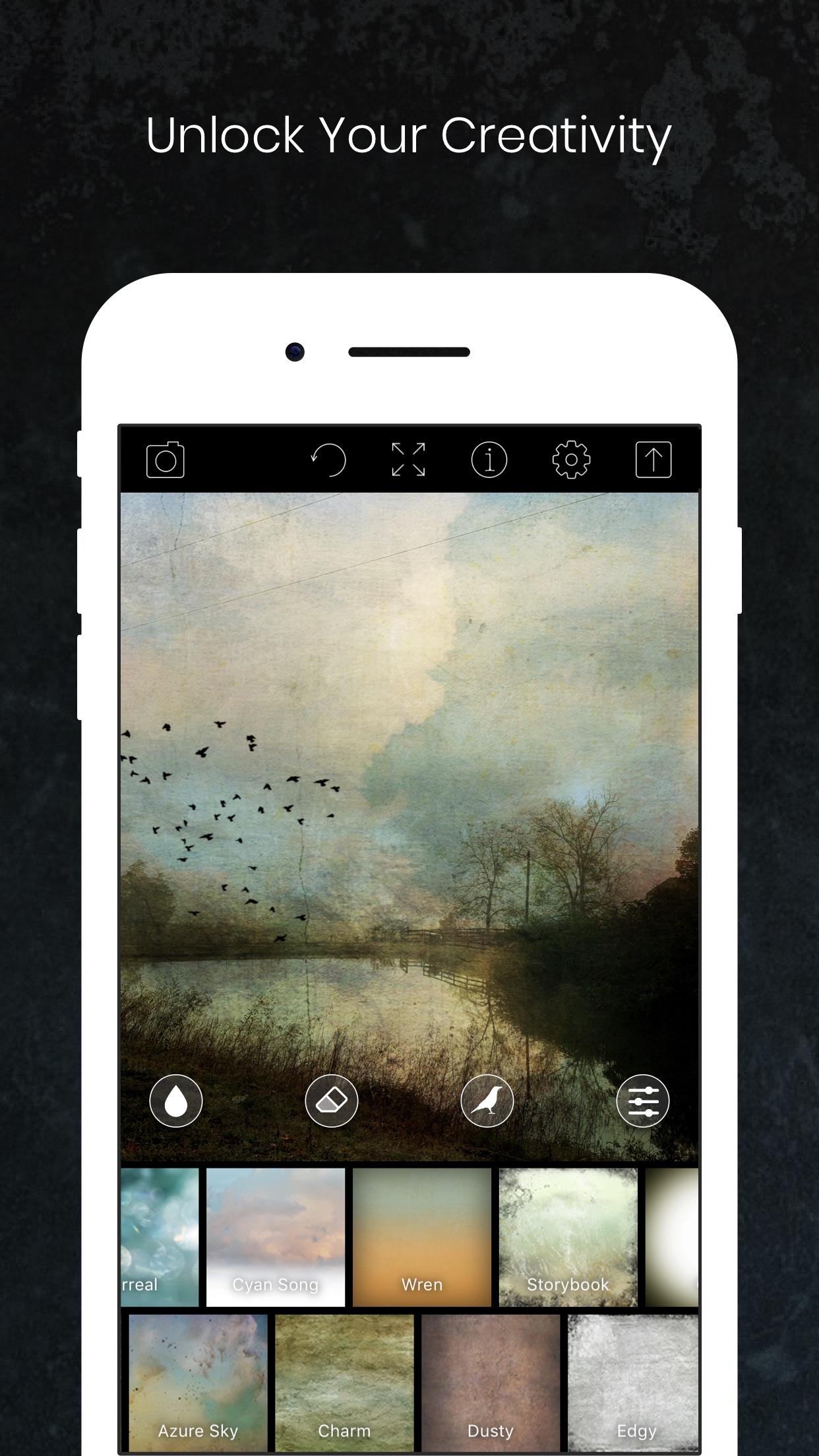 Screenshot do app Distressed FX