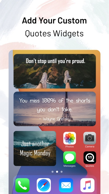 Motivation Quotes - Widget