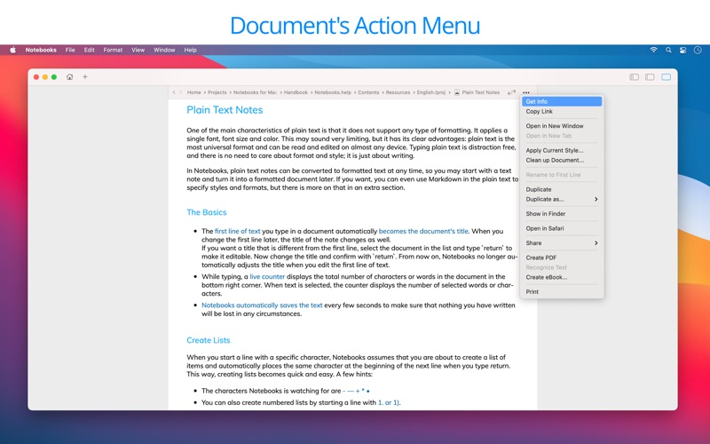 Notebooks: Write & Organize скриншот программы 8