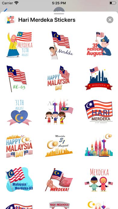 Hari Merdeka Stickers screenshot 2
