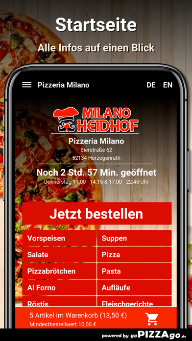 Pizzeria Milano Herzogenrath screenshot 2
