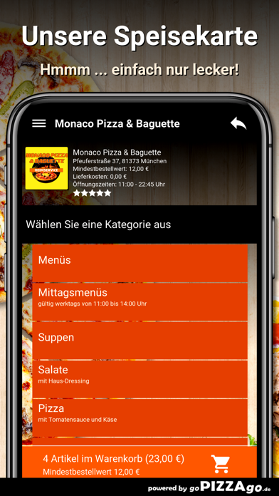 Monaco Pizza München screenshot 4