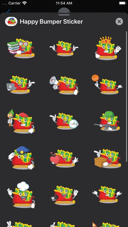 Happy Bumper Sticker