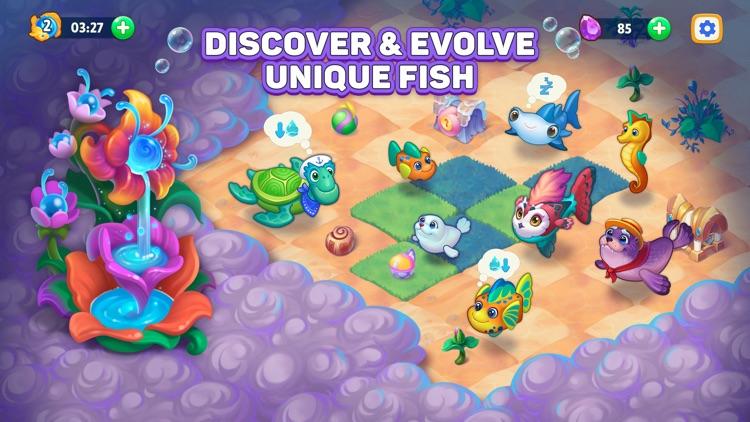Sea Merge! fish aquarium games screenshot-3