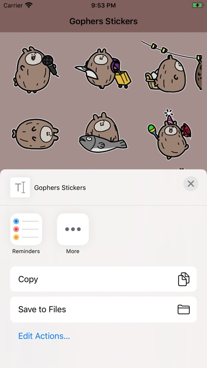 Gophers Stickers