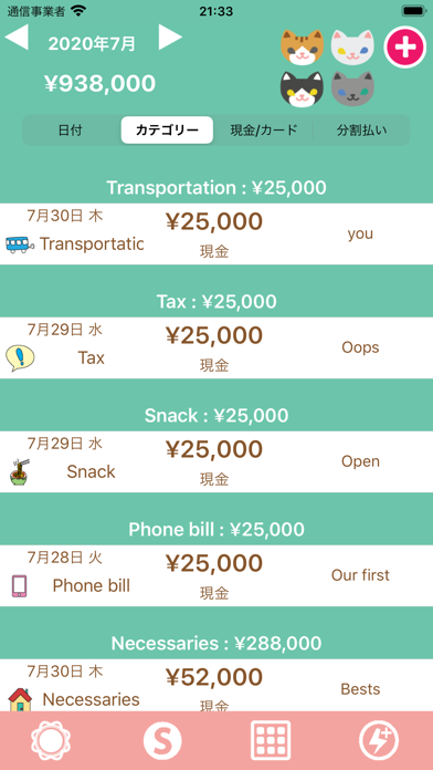 Hinakko Expense Manager ScreenShot1