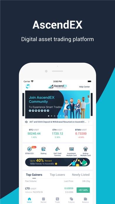 messages.download AscendEX(BitMax) software