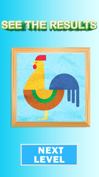 Sand art painting games