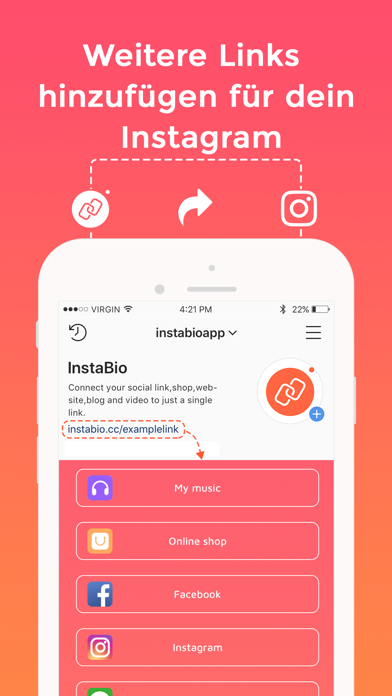 messages.download InstaBio-Add many links in Bio software