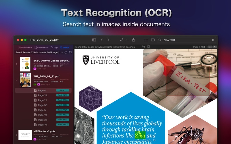 PDF Search Screenshots