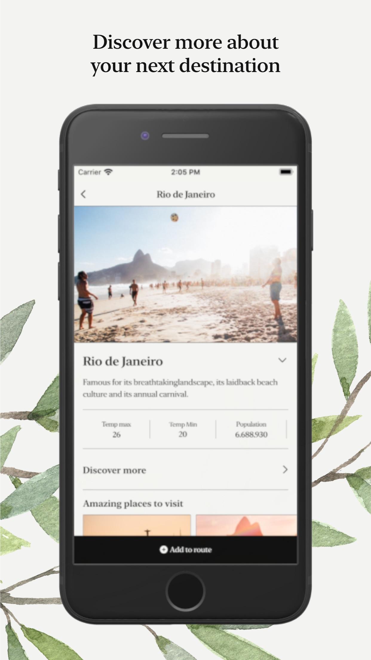 Screenshot do app Walkairos