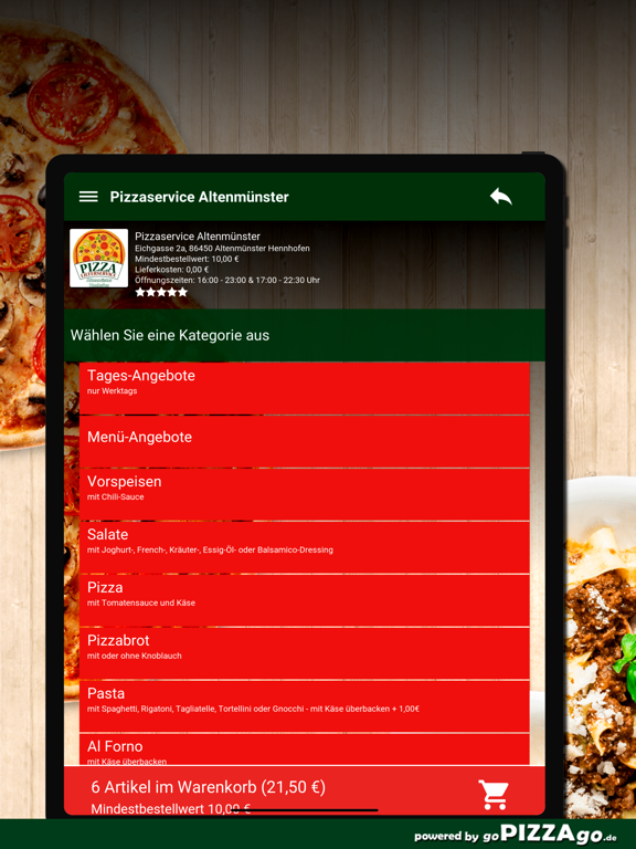 Pizzaservice Altenmünster screenshot 8