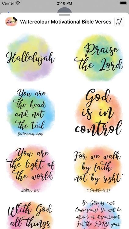 Watercolour Motivational Bible