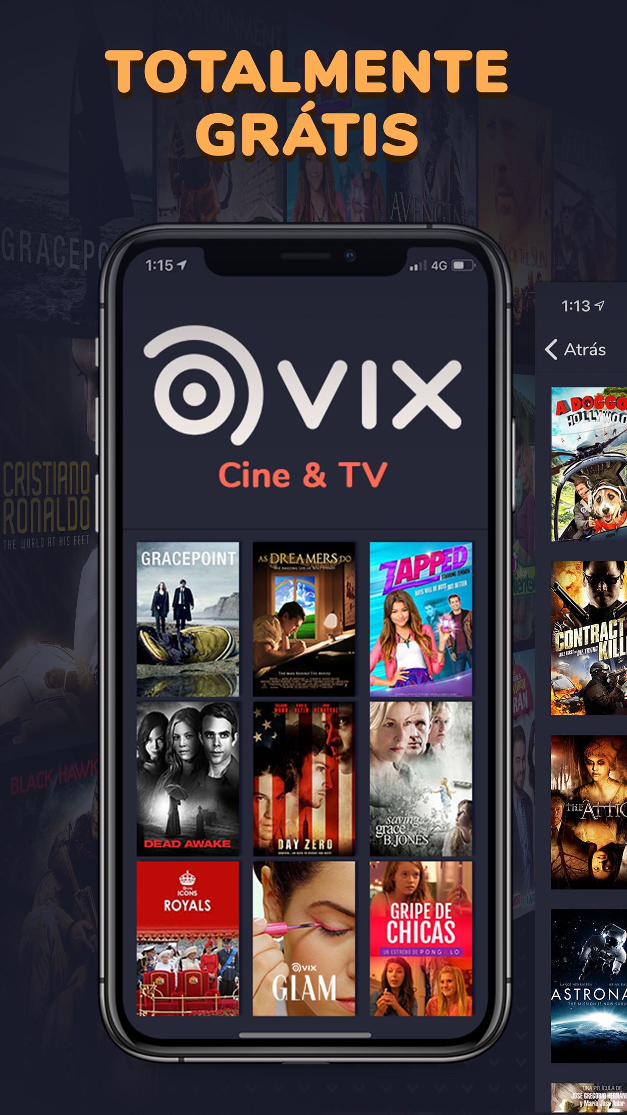 Screenshot do app VIX - Filmes e TV
