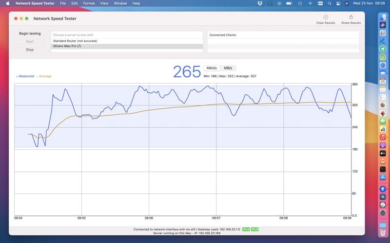 Network Speed Tester скриншот программы 1