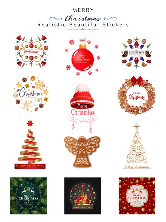 Realistic Christmas Stickers screenshot 6