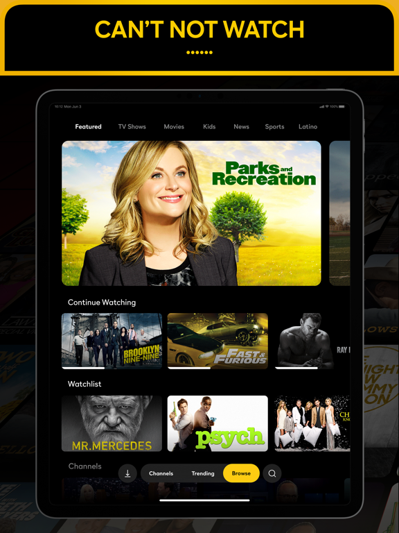 iPad Image of Peacock TV