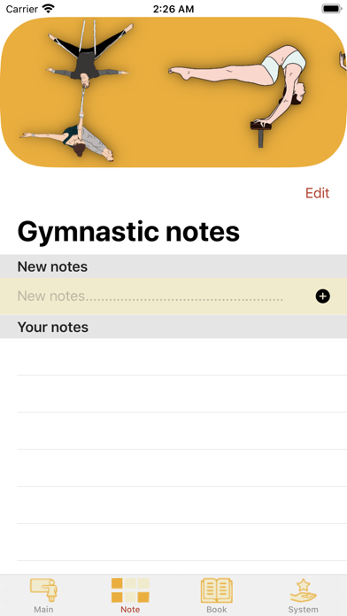 Screenshot of Aerial gymnastics App