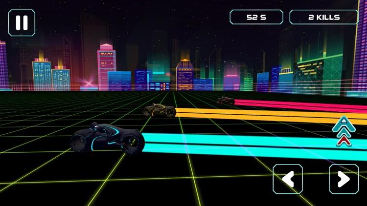 Neon Race - Light Bike Race screenshot-4