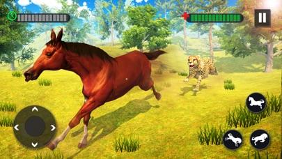 野生の馬の家族の生存3D紹介画像3