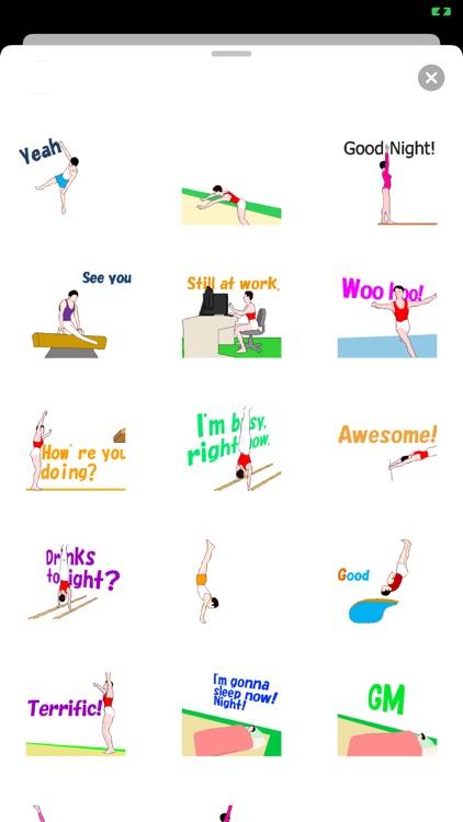 Animated Gymnastics Sticker