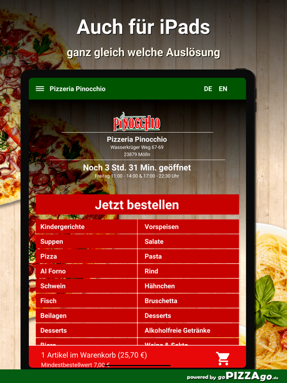 Pizzeria Pinocchio Mölln screenshot 7