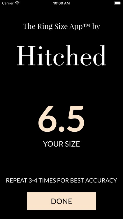 The Ring Size App™ by Hitched
