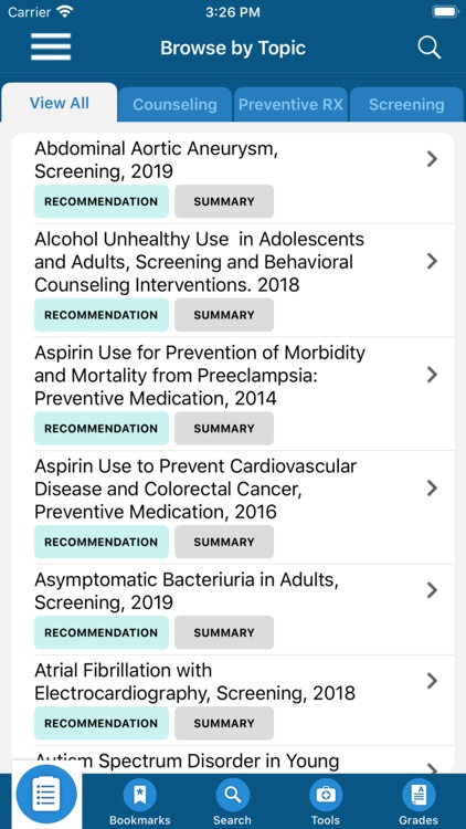 USPSTF Prevention TaskForce screenshot-4