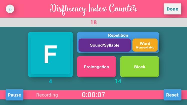 Disfluency Index Counter Plus