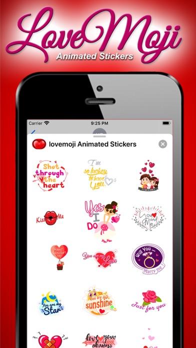 lovemoji Animated Sticker screenshot 3