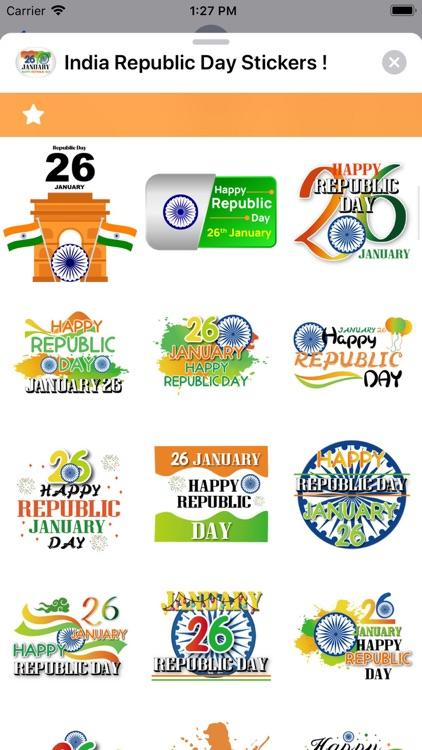 India Republic Day Stickers ! screenshot-8